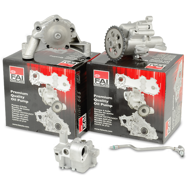 What type of oil pump is driven by the crankshaft 2