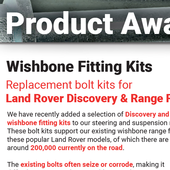 Land Rover Wishbone Fitting Kit 650x650