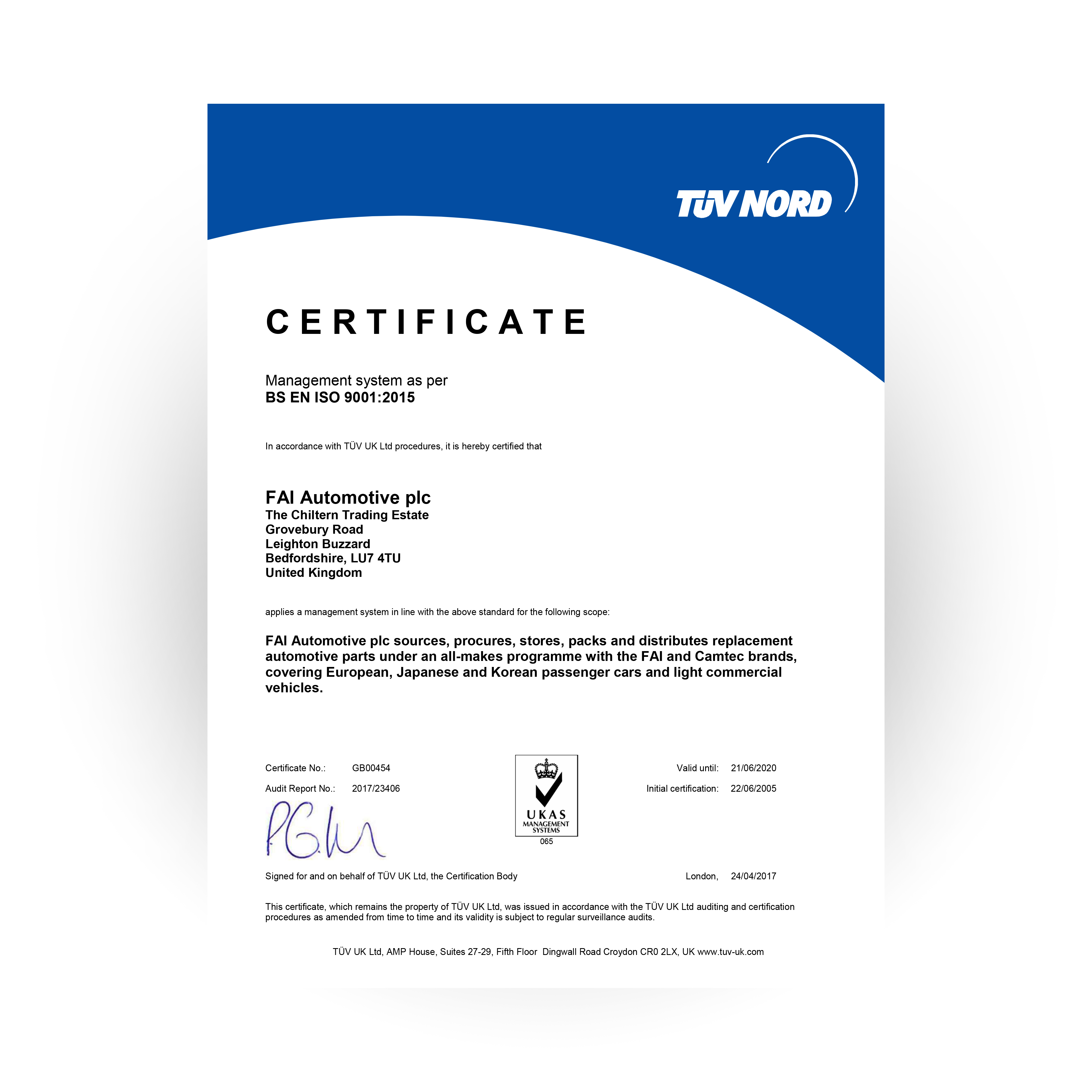 Iso 90012015 certified fai auto it is vital for our customers to understand the importance of this standard in guaranteeing the best availability value quality and service xflitez Choice Image